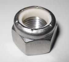 "1/4"" UNC Nylon Insert Nuts Type P DIN 982 A2 304 Stainless Steel Packed in 10's"