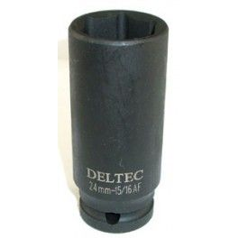 "8MM 1/2"" Square Drive Long (Deep) Length 6 Point Impact Socket"