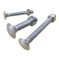 Cup Square (Carriage) Bolts To DIN 603-555 ISO 8677 In Bright Zinc Plated, Galvanized, A2 Stainless