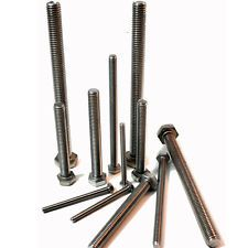Hex Setscrews Grade A2 304 DIN 933 ISO 4017 Stainless Steel