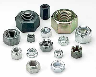 Hexagon Full Nuts, Locking Nuts, Nyloc Nuts, Flange, Connector, Stover, Dome, Wing & Square Nuts