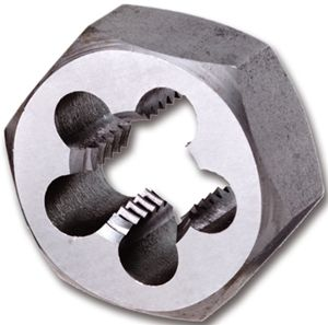 No10 x 24 TPI UNC Thread Hexagon Die Nuts