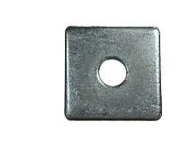 Square Plate Round Hole Washers To BS3410 Bright Zinc Plated